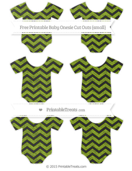 Free Apple Green Chevron Chalk Style Small Baby Onesie Cut Outs