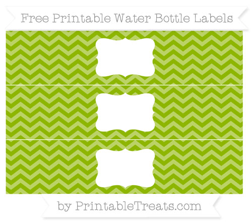Free Apple Green Chevron Water Bottle Labels