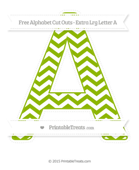 Free Apple Green Chevron Extra Large Capital Letter A Cut Outs