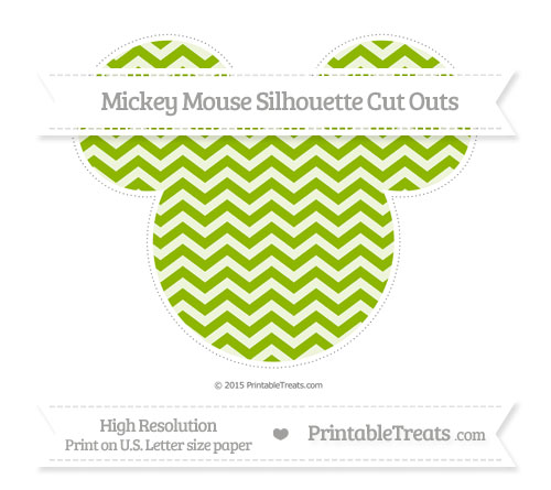 Free Apple Green Chevron Extra Large Mickey Mouse Silhouette Cut Outs