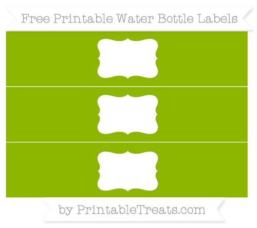 Free Apple Green Water Bottle Labels