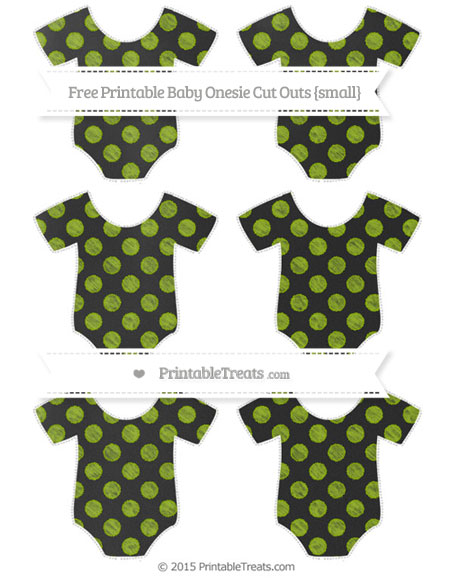 Free Apple Green Dotted Pattern Chalk Style Small Baby Onesie Cut Outs
