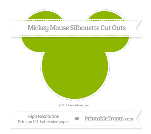 Free Apple Green Extra Large Mickey Mouse Silhouette Cut Outs