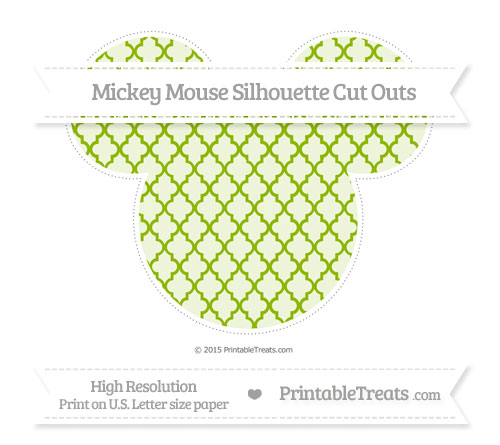 Free Apple Green Moroccan Tile Extra Large Mickey Mouse Silhouette Cut Outs