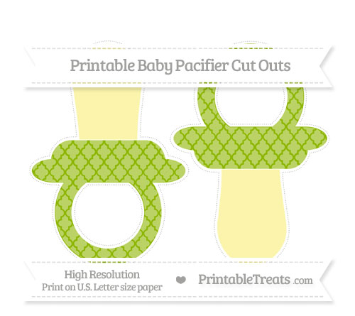 Free Apple Green Moroccan Tile Large Baby Pacifier Cut Outs