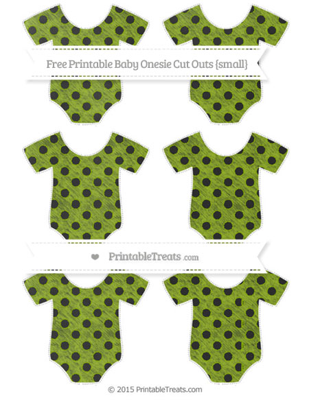 Free Apple Green Polka Dot Chalk Style Small Baby Onesie Cut Outs