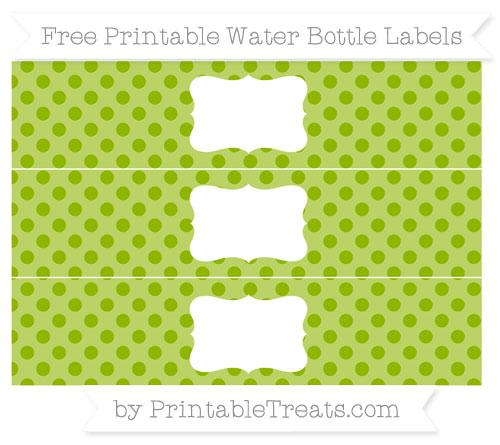 Free Apple Green Polka Dot Water Bottle Labels