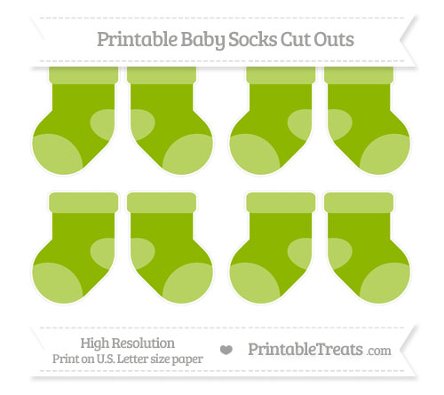 Free Apple Green Small Baby Socks Cut Outs