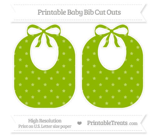 Free Apple Green Star Pattern Large Baby Bib Cut Outs