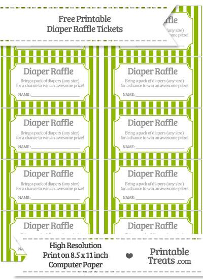 Free Apple Green Striped Diaper Raffle Tickets