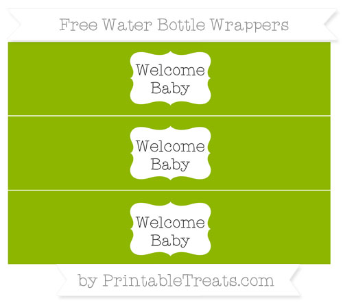 Free Apple Green Welcome Baby Water Bottle Wrappers