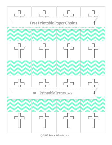 Free Aquamarine Chevron Cross Paper Chains