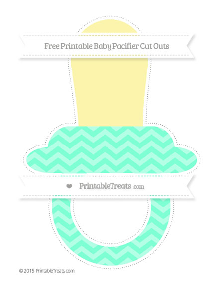 Free Aquamarine Chevron Extra Large Baby Pacifier Cut Outs