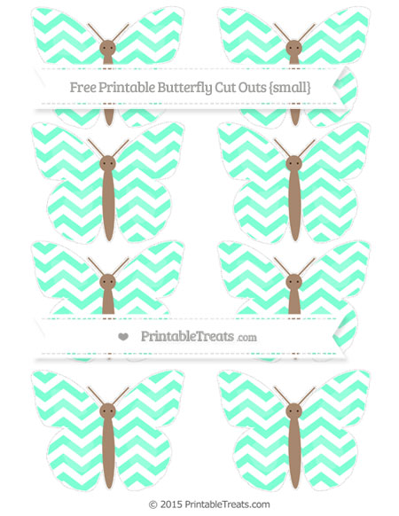 Free Aquamarine Chevron Small Butterfly Cut Outs