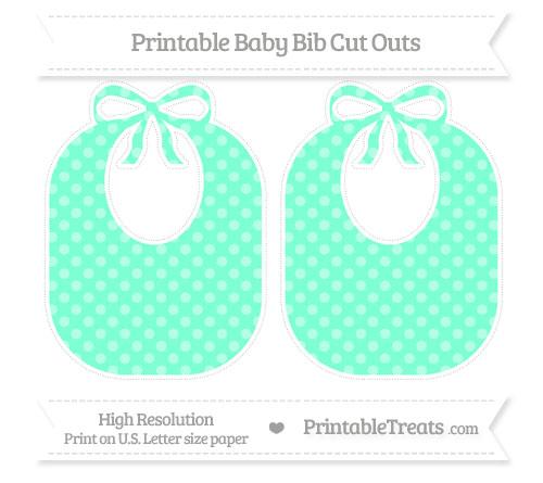 Free Aquamarine Dotted Pattern Large Baby Bib Cut Outs