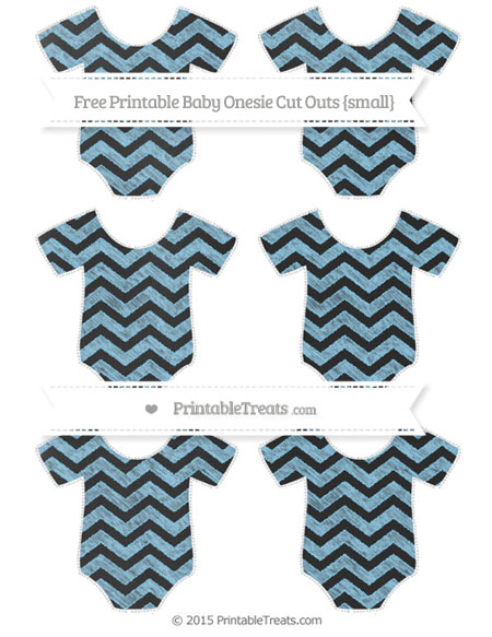 Free Baby Blue Chevron Chalk Style Small Baby Onesie Cut Outs