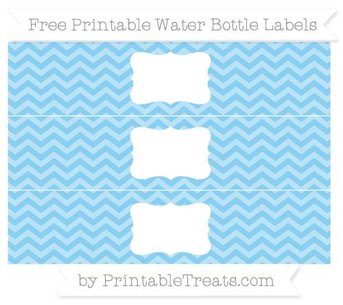 Free Baby Blue Chevron Water Bottle Labels
