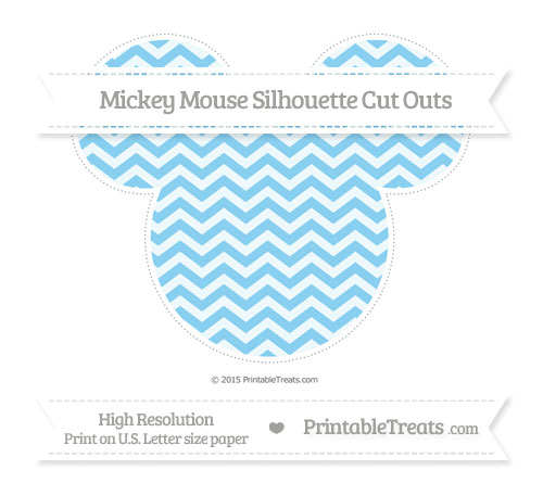 Free Baby Blue Chevron Extra Large Mickey Mouse Silhouette Cut Outs
