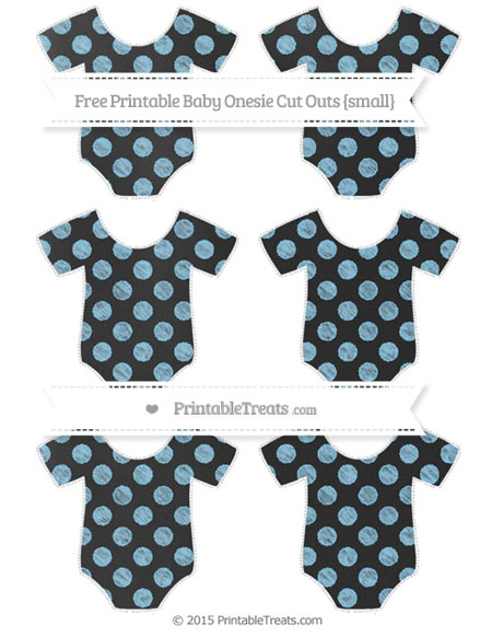 Free Baby Blue Dotted Pattern Chalk Style Small Baby Onesie Cut Outs