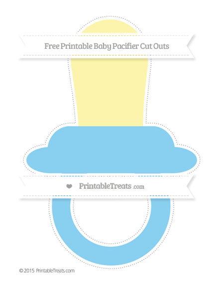 Free Baby Blue Extra Large Baby Pacifier Cut Outs