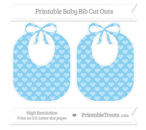 Free Baby Blue Heart Pattern Large Baby Bib Cut Outs
