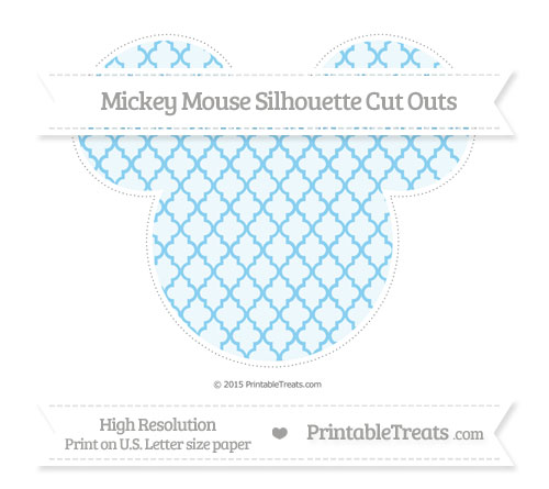 Free Baby Blue Moroccan Tile Extra Large Mickey Mouse Silhouette Cut Outs