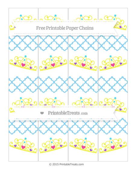 Free Baby Blue Moroccan Tile Princess Tiara Paper Chains