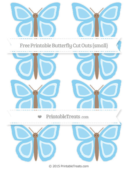 Free Baby Blue Small Butterfly Cut Outs