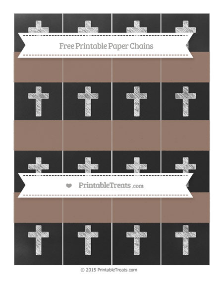 Free Beaver Brown Chalk Style Cross Paper Chains