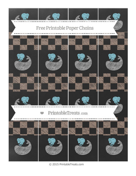 Free Beaver Brown Checker Pattern Chalk Style Whale Paper Chains