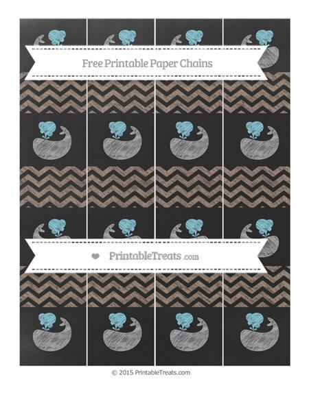 Free Beaver Brown Chevron Chalk Style Whale Paper Chains