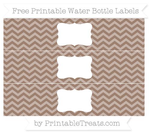 Free Beaver Brown Chevron Water Bottle Labels
