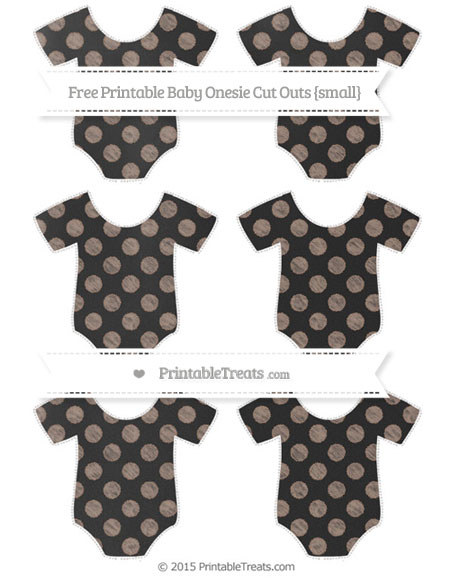 Free Beaver Brown Dotted Pattern Chalk Style Small Baby Onesie Cut Outs