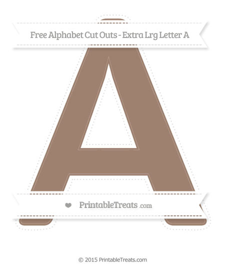 Free Beaver Brown Extra Large Capital Letter A Cut Outs