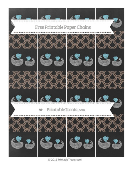 Free Beaver Brown Fish Scale Pattern Chalk Style Baby Whale Paper Chains