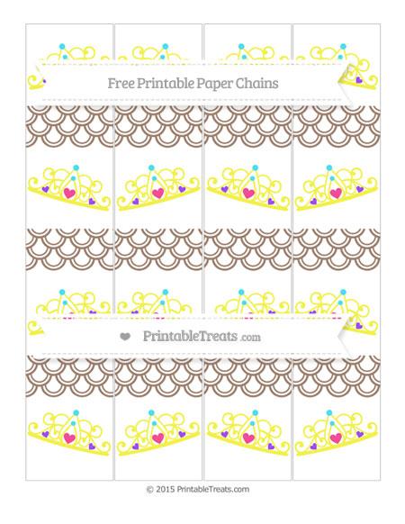 Free Beaver Brown Fish Scale Pattern Princess Tiara Paper Chains