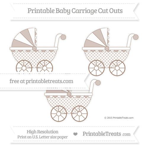 Free Beaver Brown Polka Dot Medium Baby Carriage Cut Outs