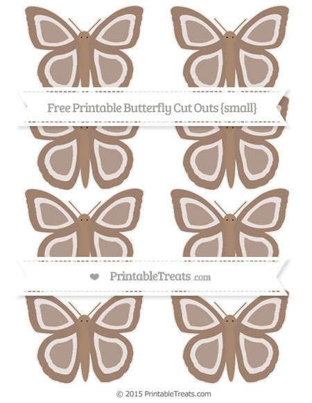 Free Beaver Brown Small Butterfly Cut Outs