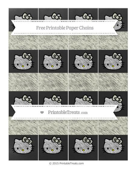 Free Beige Chalk Style Hello Kitty Paper Chains