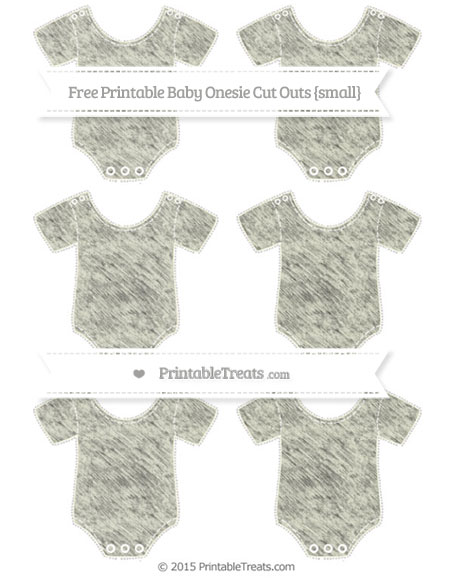 Free Beige Chalk Style Small Baby Onesie Cut Outs