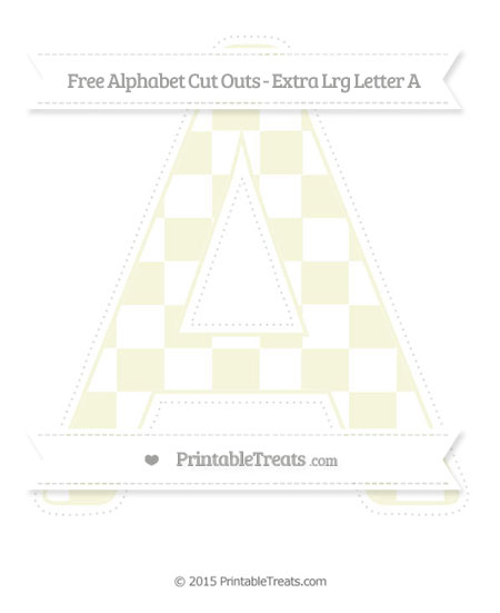 Free Beige Checker Pattern Extra Large Capital Letter A Cut Outs