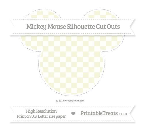 Free Beige Checker Pattern Extra Large Mickey Mouse Silhouette Cut Outs