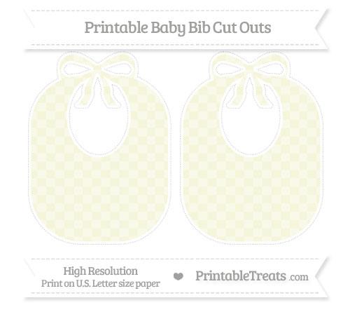 Free Beige Checker Pattern Large Baby Bib Cut Outs