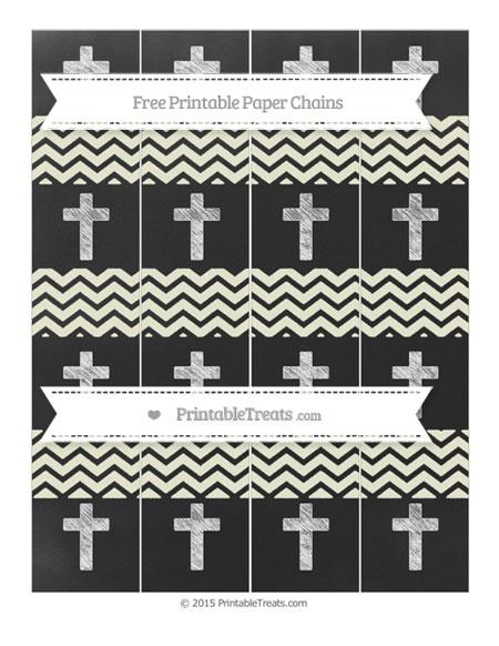 Free Beige Chevron Chalk Style Cross Paper Chains