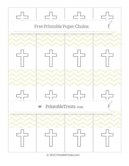 Free Beige Chevron Cross Paper Chains