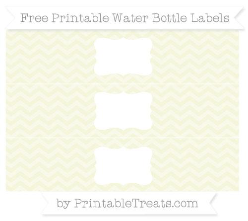 Free Beige Chevron Water Bottle Labels