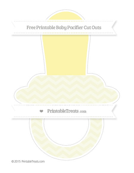 Free Beige Chevron Extra Large Baby Pacifier Cut Outs