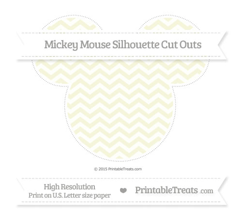 Free Beige Chevron Extra Large Mickey Mouse Silhouette Cut Outs