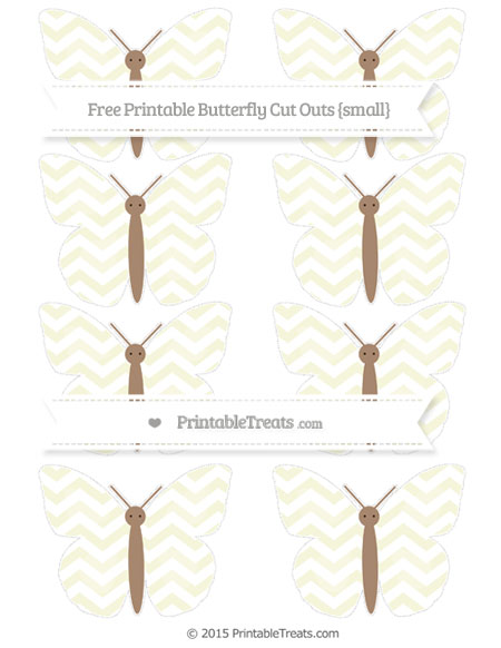 Free Beige Chevron Small Butterfly Cut Outs