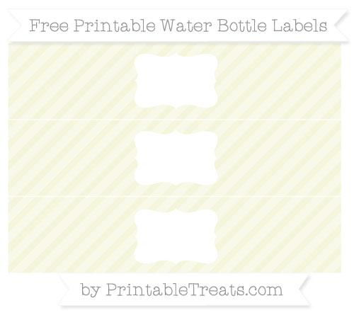 Free Beige Diagonal Striped Water Bottle Labels